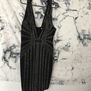 Very Heavily embroidered Halter Beaded Dress